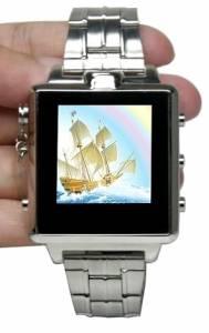 Skrytá kamera s mikrofonem v pánských hodinkách LCD