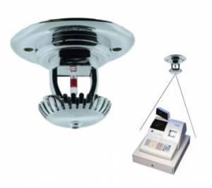 Kamera v protipožárním sprinkleru