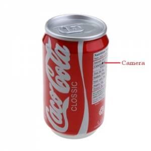 Skrytá kamera s mikrofonem s plechovce Cola